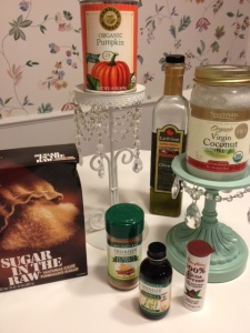 Ingredients for Pumpkin Spice Sugar Scrub